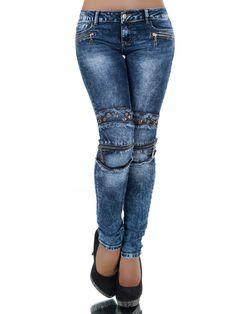 Die Skinny-Jeans DESPINA ist für alle, die das Besondere suchen! Die krasse…