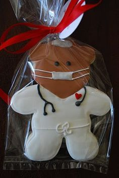 teddy bear doctor cookie