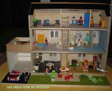 une maison pour playmobils playmobil wonders pinterest maison playmobil carton plume et. Black Bedroom Furniture Sets. Home Design Ideas