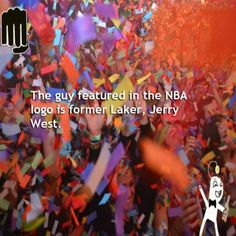 The guy featured in the NBA logo is former Laker, Jerry West
