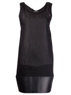 PHOEBE ENGLISH - Rubber Hem Tulle Dress - DRS 05 BLACK - H. Lorenzo