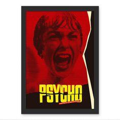 Poster Psicose Grito - Hitchcock