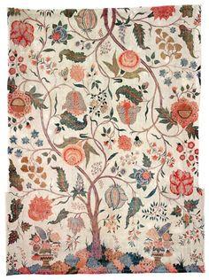 Bedspread, Coromandel coast, south east Asia, Early 18th century.