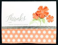 A simple card using CTMH Zoe paper pack.