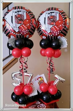 Casino-Themed party ideas & games for kids. party games for a one-year-old's birthday in december. Casino Party Games, Casino Party Decorations, Casino Night Party, Casino Theme Parties, Party Themes, Party Ideas, 80s Party, Themed Parties, Las Vegas Party