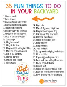 35 fun things to do in your garden this summer FREE printable Sunny Day family Summer Activities For Kids, Summer Kids, Toddler Activities, Learning Activities, Preschool Activities, Kids Summer Schedule, Nanny Activities, Babysitting Activities, Daily Schedule Kids