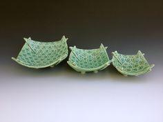Merle Lambeth 3 Folded Bowls