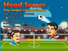 Download Head Soccer Game Kit Free Unity  Head Soccer is a fun and challenging casual game template which heavily relies on physics to simulate movements and interactions inside the game.  #downloadheadsoccergamekitfreeunity #unity3d #unityassets4free #unityassetsforfree #UnityAssetStore #unityassets #unityassetfree #freedownloadunityasset Head Soccer Game, Soccer Video Games, Texas Education, Unity 3d, Physics, Template, The Unit, Football, American Football