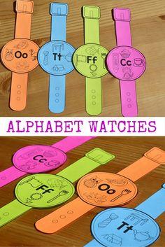 Alphabet Watches for Kindergarten!