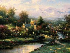 Thomas Kincade - Lamplight Village
