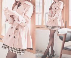 soo cute i love the soft pink the black white look