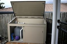 pool pump air conditioner fence cover   Pool Pump Housing door combination