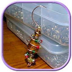 Make Your Own Christmas Ornaments | beaded Christmas ornaments will give a lovely sparkle to any Christmas ...