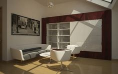 Penthouse Interior, inspired by TV Series White Collar, Neal Caffrey Flat www.azstudio.ro