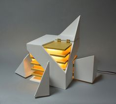 : Folding Light (An interactive light sculpture) michael jantzen Archinect Architecture Pliage, Folding Architecture, Concept Architecture, Interior Architecture, Layered Architecture, Interactive Architecture, Light Architecture, Theme Design, Layout Design
