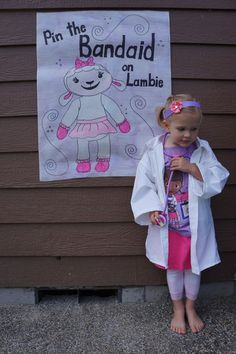 Doc mcstuffins.. Pin the bandaid on any of the characters