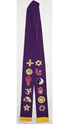 Interfaith Minister's Stole Purple- Gold