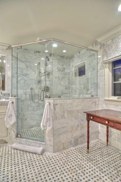 Harbor View - traditional - Bathroom - Orange County - Spinnaker Development-shape of shower