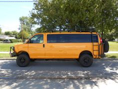 Chevy Express Van With Aluminess Bumpers Ladder And Roof