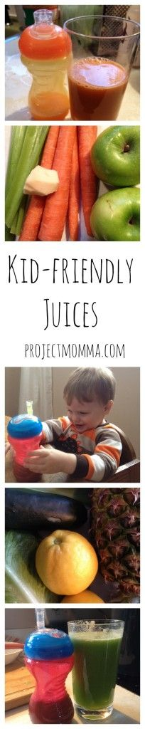 Kid-friendly homemade juices.  projectmomma.com