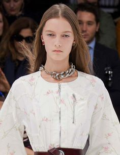 Trendy #Jewelry style for SS 2015: Chain Collar. Christian Dior Spring Summer 2015. #Spring2015 #SS15