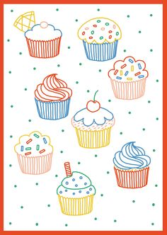 macocobox - cupcakes illustration - cook book illustration  camille chauchat*