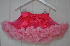 ***Pink with baby pink frills***www.littleandpinkboutique.co.uk