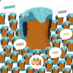 Um brinde a todos os que não deixam de lutar. #pinhata #covid19 #covid #coronavirus #piñata #beer #cheers #cerveja #trolleventos #murtosa #mrs #aveiro #events #arts #candies #candy #paper Troll, Cheers, Favors, Root Beer, Events