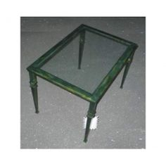 Table wrought iron. cm 50 x 70 x h 45 . 689