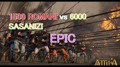 TOTAL WAR ATTILA 1500 ROMANI vs 6000 SASANIZI LUPTA EPICA