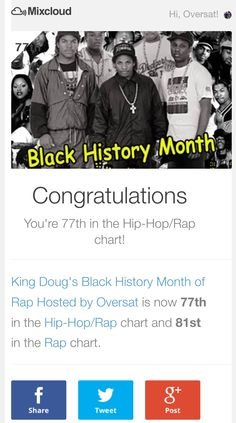 Oversat spinning on Mixcloud! This is our Black History Month mix. #mixcloud
