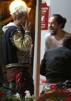 E. 'Tokio Hotel' band mates and twin brothers Bill and Tom Kaulitz leaving Astro Burger in West Hollywood, California on June 14, 2014.