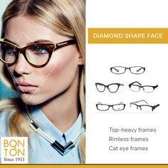 72ea9c26ff Image result for glasses for diamond face shape Diamond Face Shape