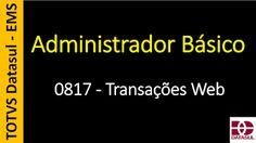 Totvs - Datasul - Treinamento Online (Gratuito): 0817 - EMS - Administrador Básico - Transações Web...