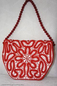 Angelica - purse: Vologda bobbin lace technique