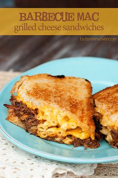 BBQ Mac and grilled cheese sandwiches. OMFG, yes.