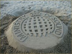Ministry of Sound sand sculpture curb media