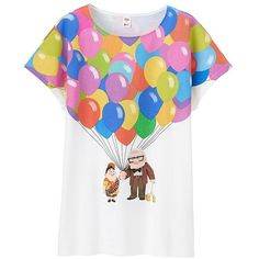 5096ad98 UNIQLO Women's Utgp Pixar Graphic Tee (£12) ❤ liked on Polyvore featuring  tops