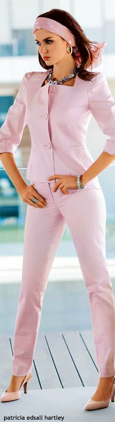 Madeleine ~ Summer Pink Jacket Suit w Skinny Pant 2015 - Love this, makes me wish I was 20 again!