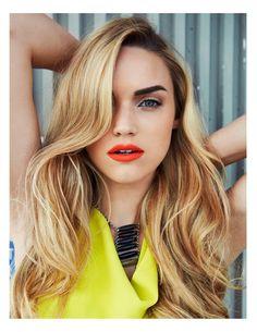 Brows, sunrise lip, hair.