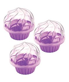 Take a look at this Purple To-Go Cupcake Carrier - Set of Three by Fox Run on #zulily today! $8 !!