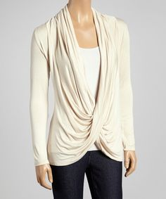 Bought this Beige Crisscross Drape Top and love it!
