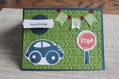 Stampin' Up! Boy Birthday Card