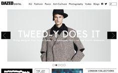 simple blog magazine whitespace layout #layout