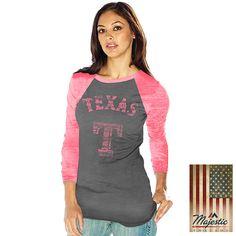 Texas Rangers Premium Charcoal 3/4 Sleeve Burnout Raglan - MLB.com Shop