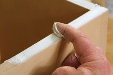 When working with MDF, use drywall compound to fill the edges rather than edge-banding the MDF.