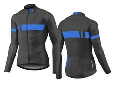 2017 Giant Podium Long Sleeve Cycling Jacket-Black Blue Jersey Tops ff16b832a