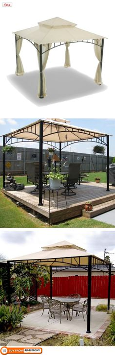 """The second one - how I picture using our little """"deck"""" with the gazebo …"""