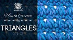 This video crochet tutorial will help you learn how to crochet the triangles stitch. This pattern creates rows of triangles and the holes in the fabric also appear as triangles. The triangles stitch would be great for afghans or simple stoles!