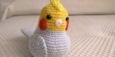 Pájaro Ninfa Amigurumi - Patrón Gratis en Español aquí: http://www.crochetyamigurumis.com/amigurumi-ninfa/